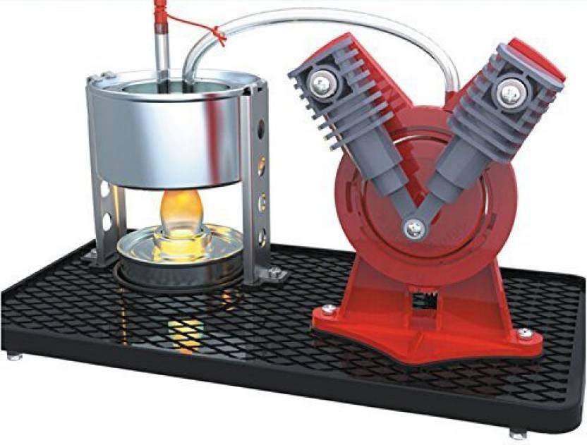 Sunnytech   Mini Hot Live Steam Engine Model Education Toy