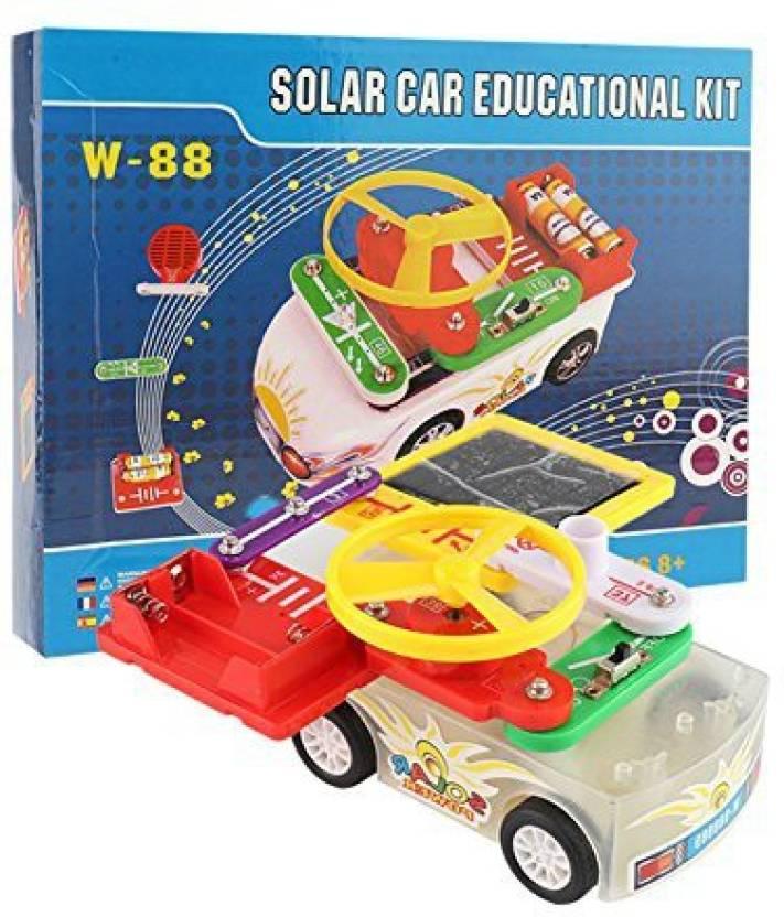 Generic Per Diy Electric Circuit Building Blocks Car Kit