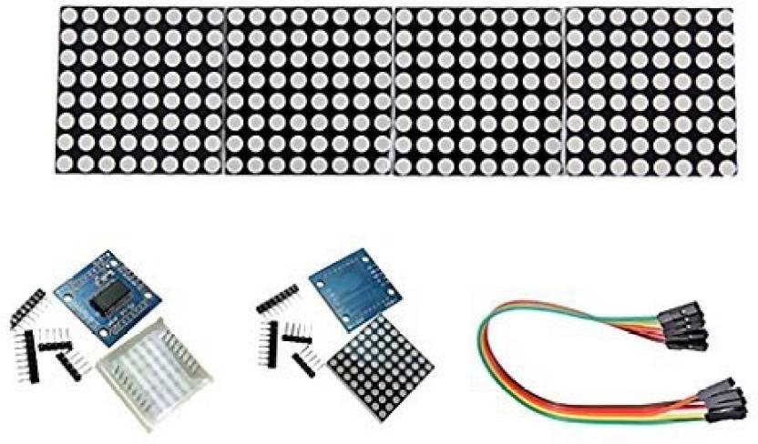 fe8d5cc5654 Monkeyjack Max7219 Dot Matrix 5V Operating Voltage Module 8X8 Led Dot Matrix  Display Module (Multicolor)