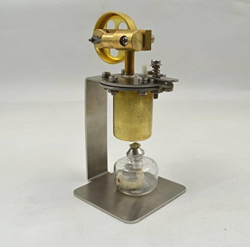 Sunnytech Mini Hot Live Steam Engine Model Education Toy Diy