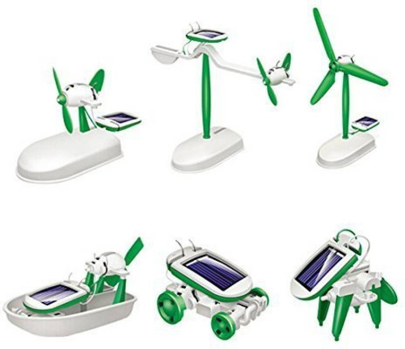 c2529f8b7be AngelaKerry Solar Robot Toy Kit Educational Diy 6 In 1 Power Children  Learning Gift Creative Boat Mini(1Pcs Solar Robot 6 In 1) (Multicolor)