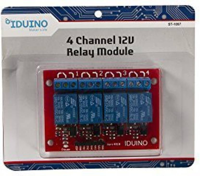Generic Iduino 4-Channel 12V Relay Module With Optocoupler For