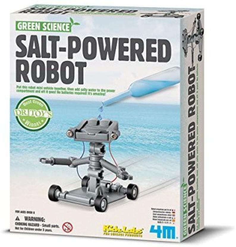 Great Gizmos Science Salt Water Power Robot Green