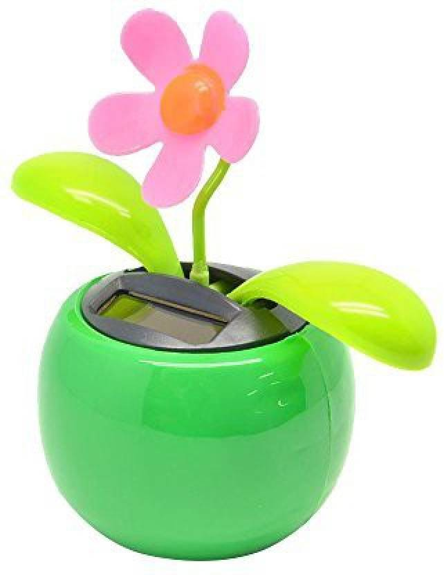5d452910c Generic Cido Solar Powered Sunlight Power Flip Flap Leaves Flower Flowerpot  Swing Dancing Automatic Toy Gift Home Ornament For Auto Car (Multicolor)