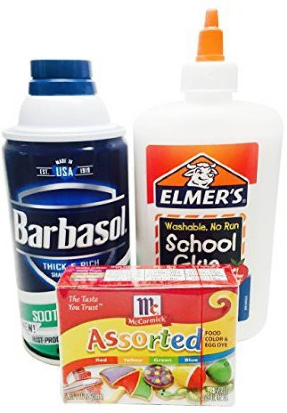 new product e7573 93c13 Elmer s Slime Ingredients Bundle With Slime Supplies Elmers School Glue,  Shaving Cream And Food Coloring (Multicolor)