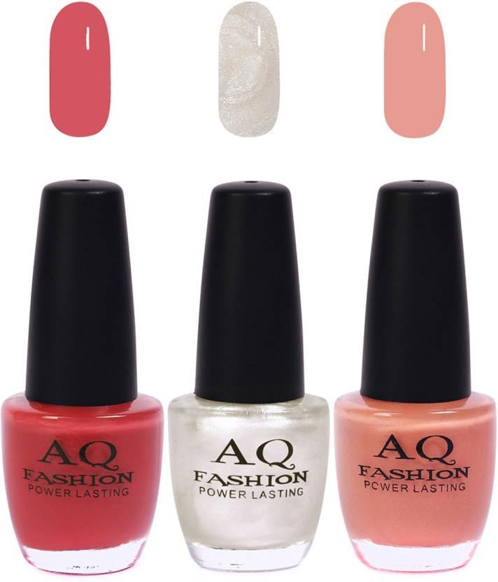 AQ Fashion Funky Vibrant Range of Colors Nail polish Pink,Pearl ...