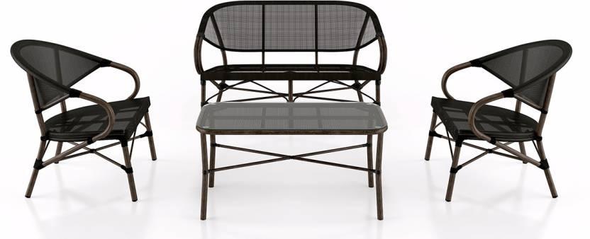Urban Ladder Black Metal Table Chair Set Price In India Buy