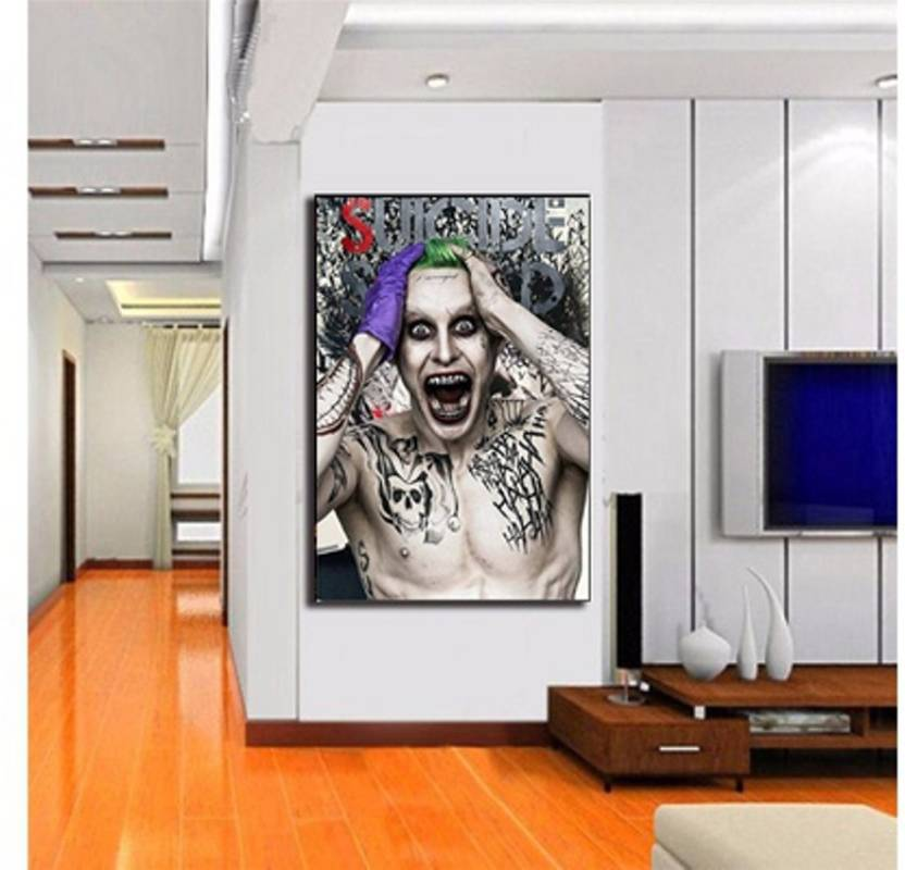The Joker Suicide Squad Characters Jared Leto Poster Wallpaper Home
