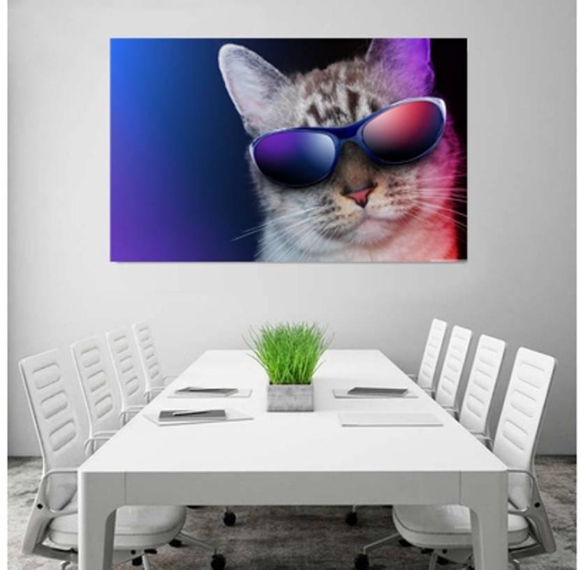 Cool Cat Poster Wallpaper Wall Art Home Decor Living Room Or Bedroom Bar