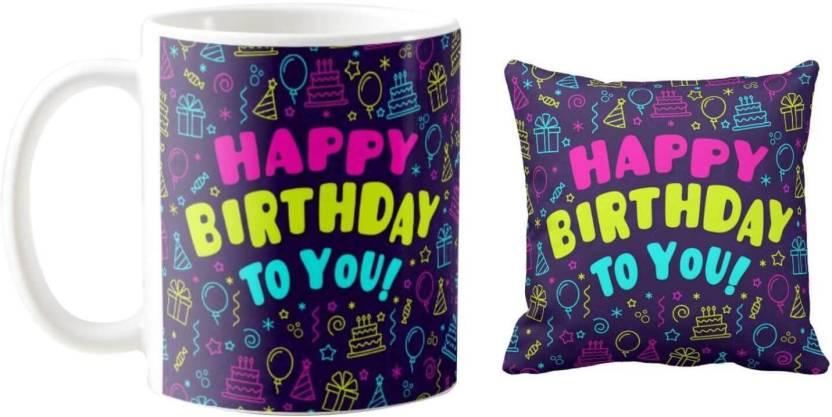 Giftsmate Birthday Gifts Happy Mug For Husband Wife Boyfriend Girlfriend Hamper Set Of