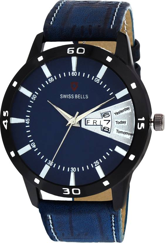 9e39ec4fba1e Svviss Bells 1056SB Original Blue Dial Blue Leather Strap Day and Date  Multifunction Chronograph Wrist Watch for Men - SB-1056 Watch - For Men -  Buy Svviss ...