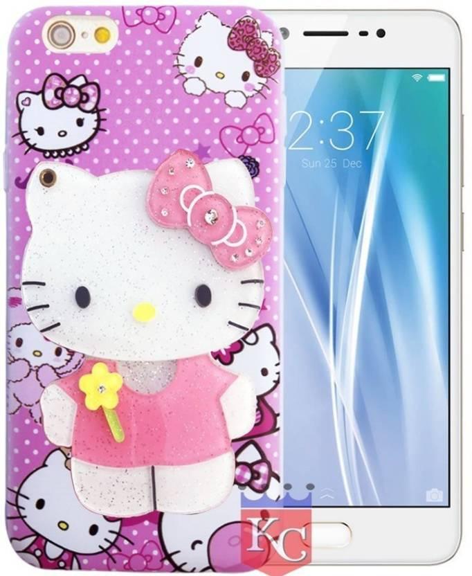 1fd98b88d2 KC Back Cover for Vivo V5 Plus (Pink, Shock Proof, Flexible Case)