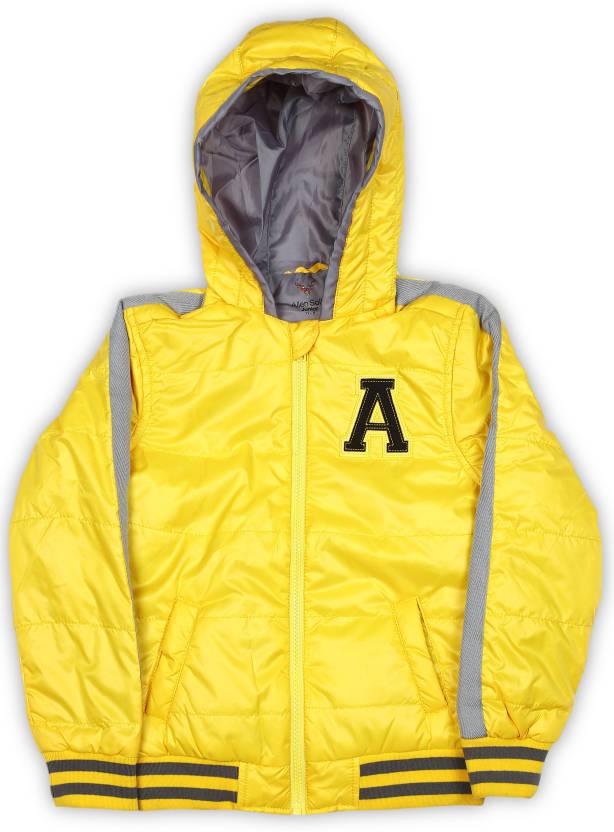 d0b8301b6 Allen Solly Junior Full Sleeve Solid Boys Jacket - Buy Yellow Allen ...