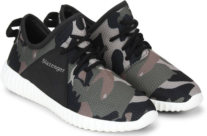 6261a75d7a Slazenger Velociti Camo Running Shoes For Men - Buy Military Green ...