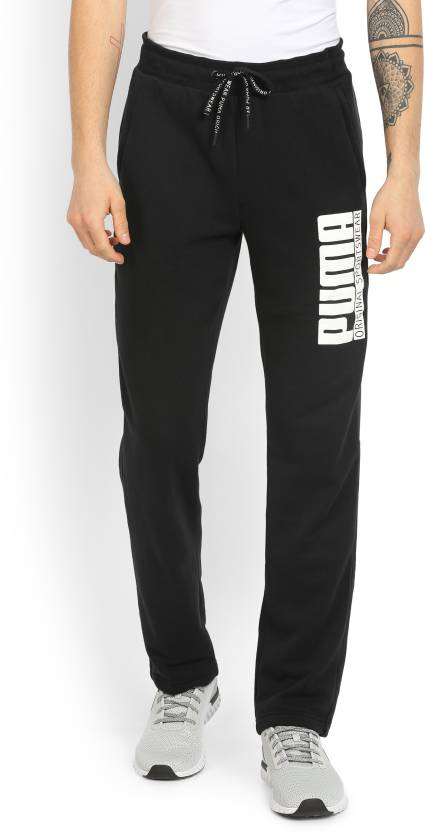 c27eac99a9f4 Puma Printed Men s Black Track Pants - Buy Cotton Black Puma Printed Men s  Black Track Pants Online at Best Prices in India