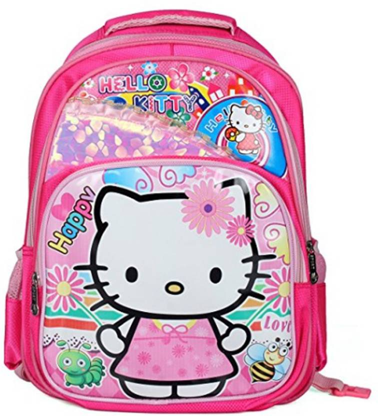 a0485803d551 GOCART Hello Kitty Kids Trolley School Bags for Girls Boys School Backpack  Children s Backpacks In Pink Color Waterproof School Bag (Pink