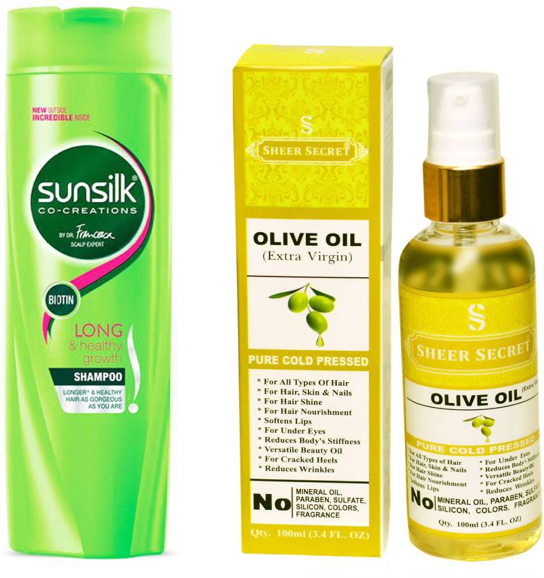 SUNSILK 180 ML LONG AND HEALTHY GROWTH SHAMPOO with SHEER