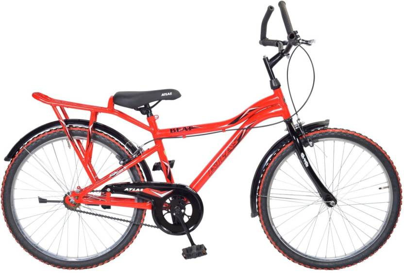 ee23dadae97 Atlas Beat IBC 24inches Single Speed Bike For Juniors Red 24 T Mountain  Cycle (Single Speed, Red)