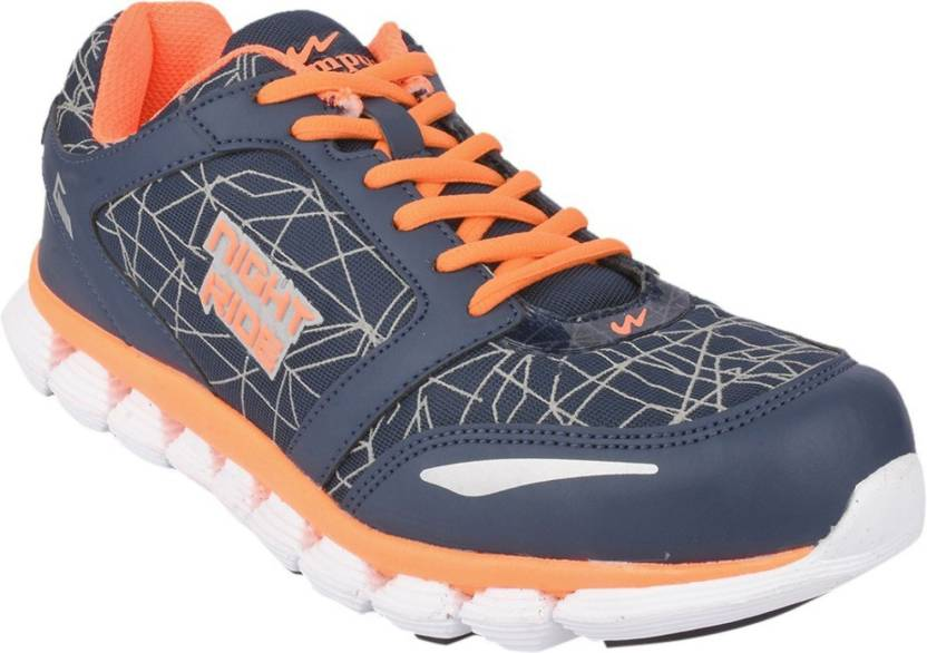 5df9ef1f8d Campus Campus DAZZLE Navy/Sil/Org Men Running Shoes Running Shoes For Men