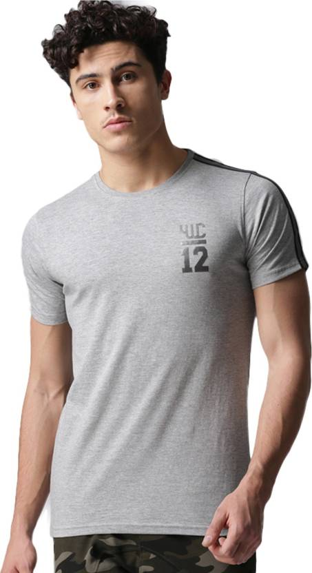 a092160211b YOUWECAN Solid Men Round Neck Grey T-Shirt - Buy YOUWECAN Solid Men ...