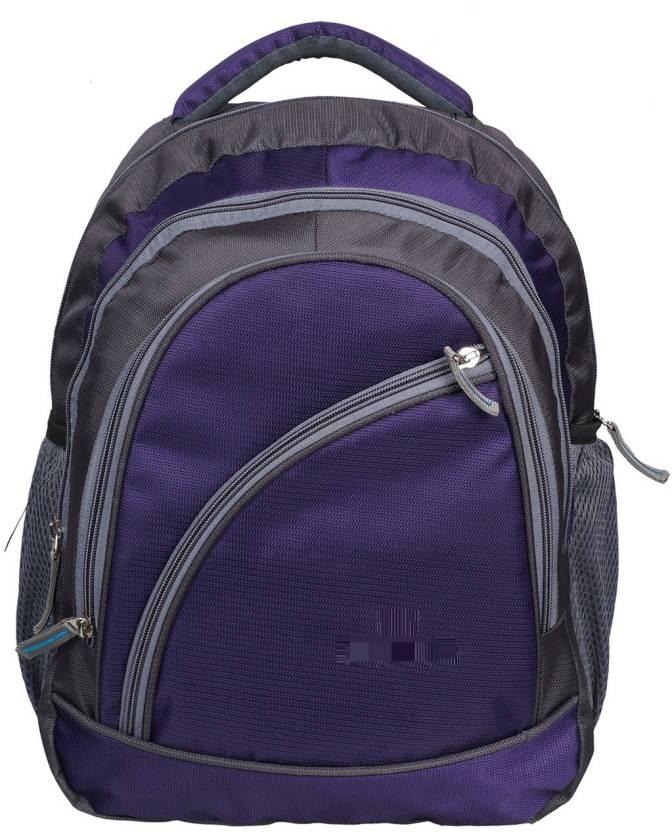 peter india Light Weight Waterproof School Bag Purple, 35 L