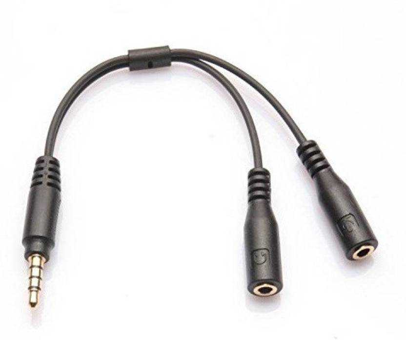 Supreno 3.5mm Audio Stereo Y Splitter Cable 3.5mm Male to 2 Port 3.5mm Female for Earphone, Headset Splitter Adapter AUX Cable (Black)