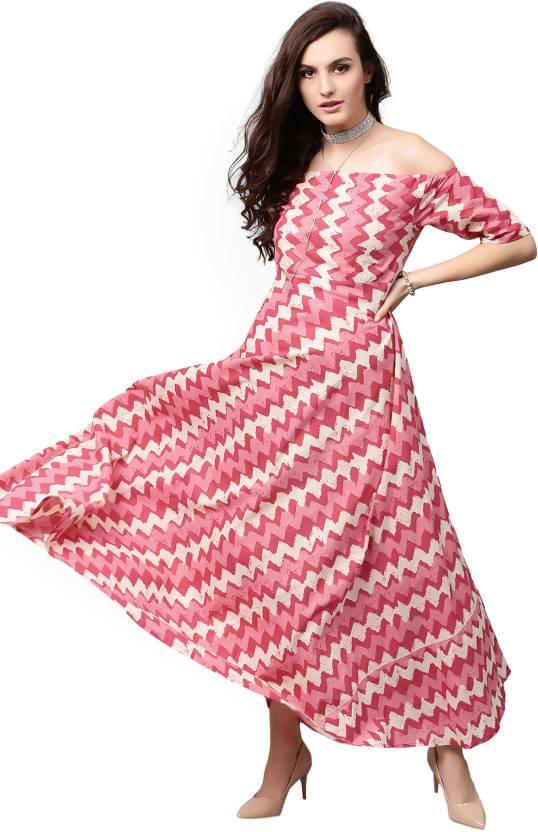 Aks Women s Maxi Pink Dress b34faaaf5