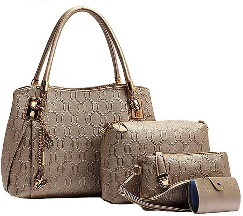 5507faf6ab26 Buy Vezela Shoulder Bag Golden Online   Best Price in India ...