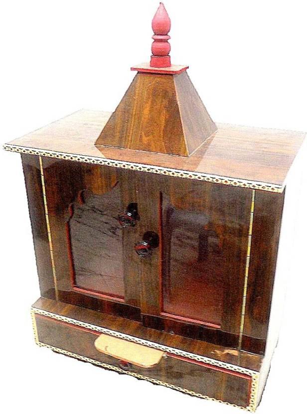 Drooks Vrindavan Handicrafts Wooden Temple Home Temple Pooja