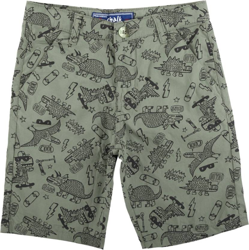 6397de4e37 Chalk by Pantaloons Short For Boys Casual Printed Cotton (Green, Pack of 1)