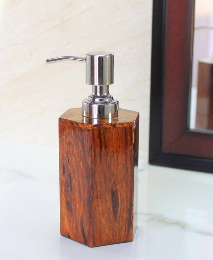 puffin PUFFIN Soap/ Lotion Dispenser - Made of Genuine Indian Wood - Luxury Bathroom Accessories