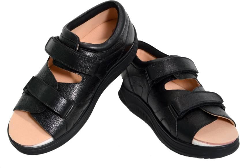 d112e4e0787 Ortho Magic Men Black Sandals - Buy Ortho Magic Men Black Sandals Online at  Best Price - Shop Online for Footwears in India