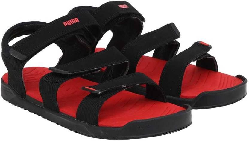 187bc6fda59 Puma Men Black-Flame Scarlet-Black Sandals - Buy Puma Men Black-Flame  Scarlet-Black Sandals Online at Best Price - Shop Online for Footwears in  India ...