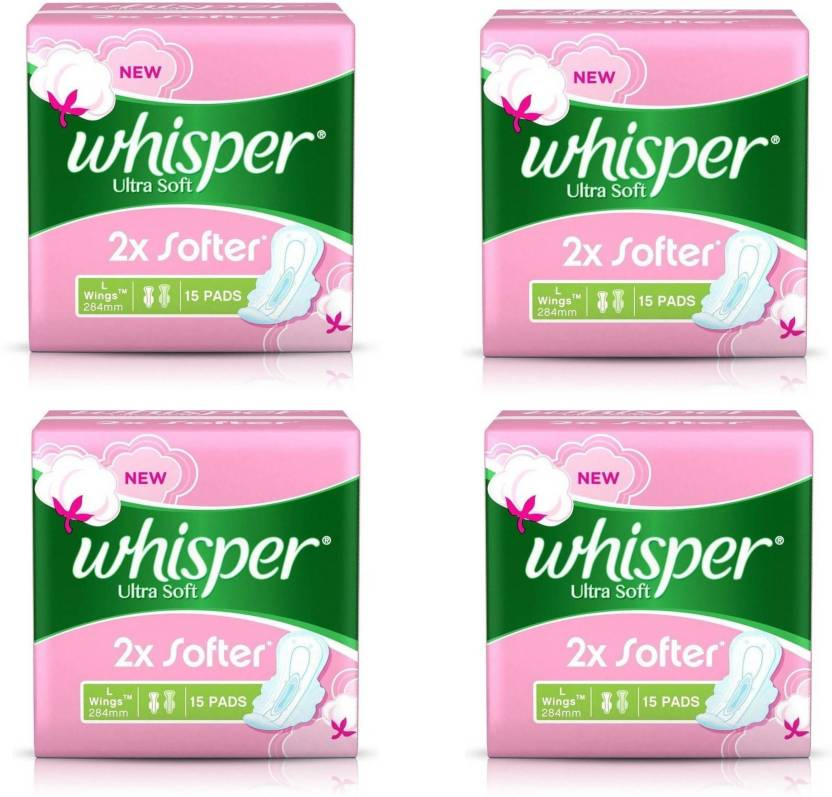3ff15b0d44b4 Whisper Ultra Soft L Wings Sanitary 15 Pad Sanitary Pad | Buy Women ...