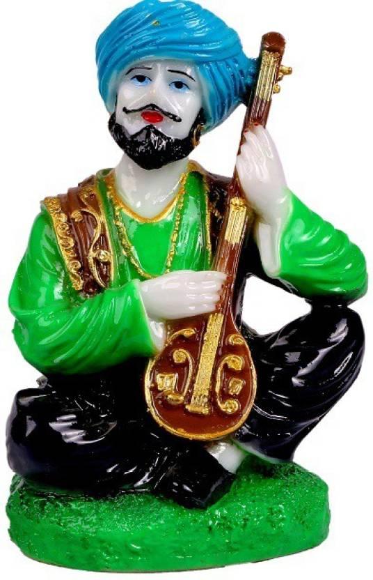 Mantra Art Gallery Marble Base Polyresin Rajasthani Showpiece Figurines