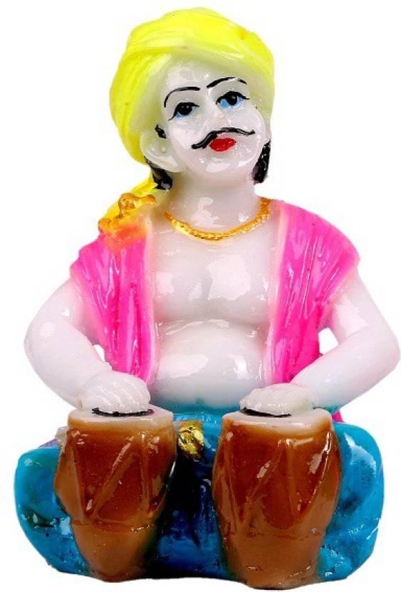 Mantra Art Gallery Marble Base Rajasthani Showpiece Figurines