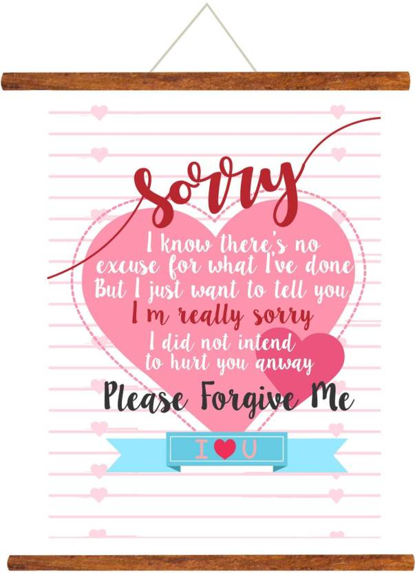 Giftsmate Please Forgive Me Sorry Scroll Greeting Card 24x32