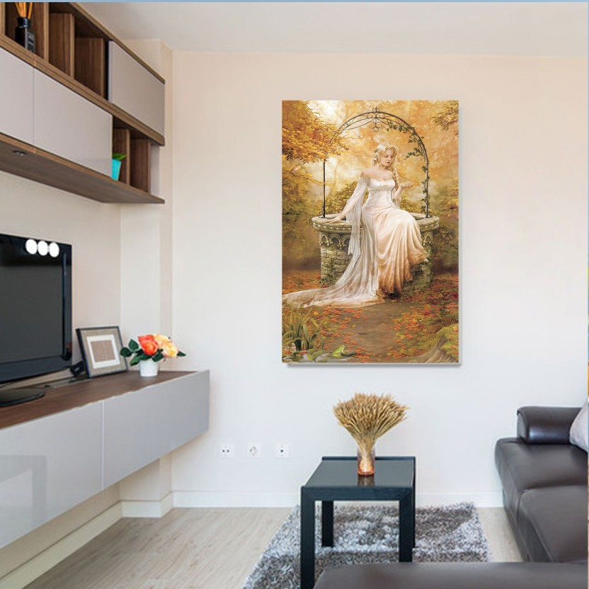 KUWA LADY SIZE (2FT * 4FT ) / Wall Art Picture Canvas Painting Home Decor