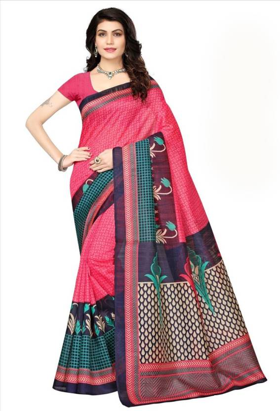 a47d0cc10 Buy HITESH ENTERPRISE Woven Mysore Art Silk Multicolor Sarees Online ...
