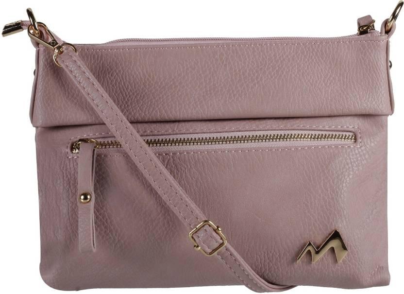Metro Women Casual Pink Rexine Sling Bag 80 9e0f6cd298cfa