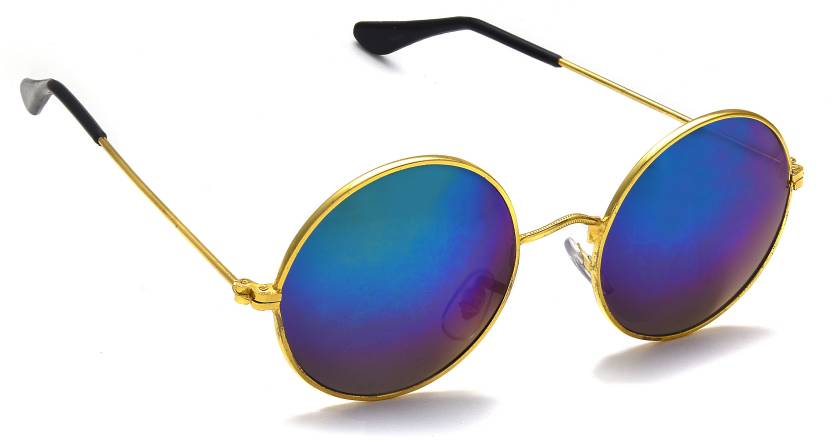 709b681abba Buy Kuki Round Sunglasses Blue For Men Online   Best Prices in India ...