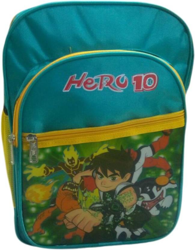 Aone Standard Polyester Waterproof Kids School Bags Waterproof School Bag ( Green f80cc2609ec89
