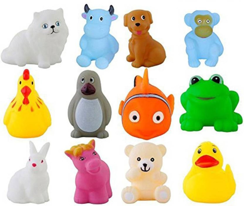 Bath Toys Baby Baby Toddler Animals Bathtime Floating Squeaky Sqeeze Bath Toys Water Play