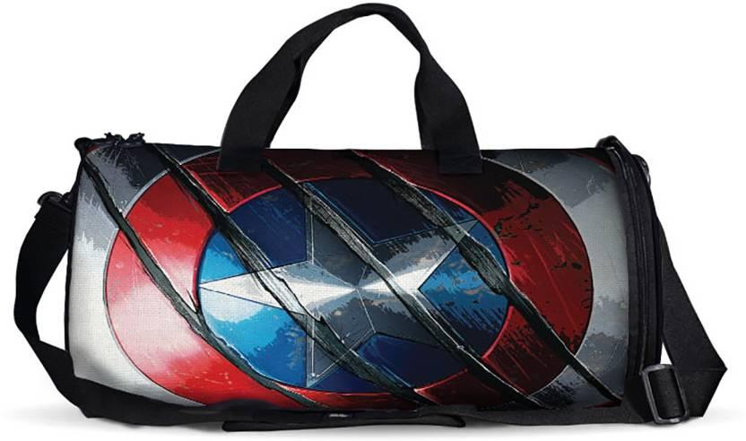 The Souled Store. Captain America  Shield Duffle Bag Travel Duffel ... 4ab238cc5f4e5