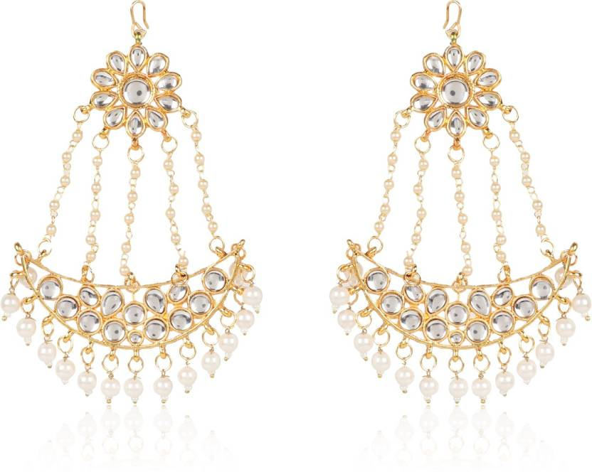 Flipkart buy ryka collection pasa earrings pearl brass ryka collection pasa earrings pearl brass chandelier earring aloadofball Choice Image