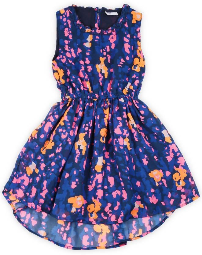 1cbf7b141811 612 League Girls Midi/Knee Length Casual Dress (Multicolor, Sleeveless)
