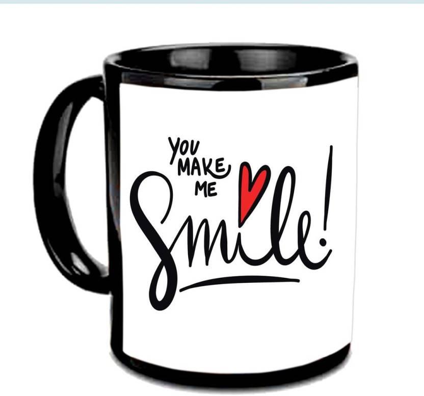 Amour Choco Cute You Make Me Smile Designer Black Printed