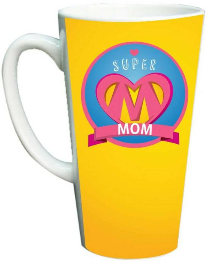Giftsmate Birthday Gifts For Mom Super Latte Coffee Mother Ceramic Mug 330 Ml