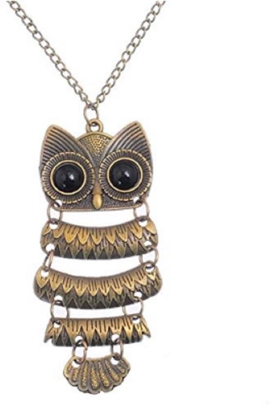 New Women Vintage Rhinestone OWL Pendant Long Chain Necklace Jewellery Gift