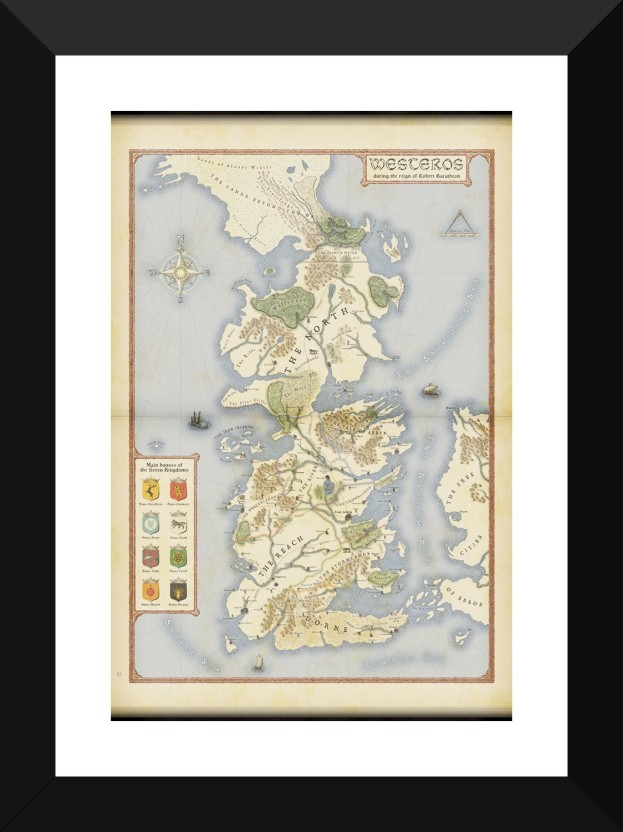 picture about Printable Map of Westeros titled Activity Of Thrones Assortment - 7 Kingdoms Of Westeros Map